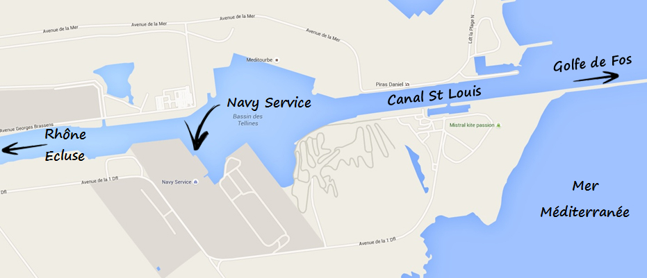 Accès maritime fluvial port saint louis du rhône Navy Service