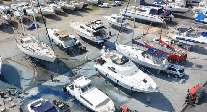 The cleaning & antifouling area