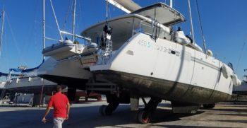Hivernage d'un catamaran LAGOON 450