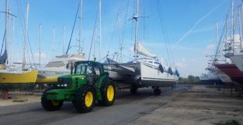 Port a sec Port Navy Service - Place de port pour un Catamaran OUTREMER 45