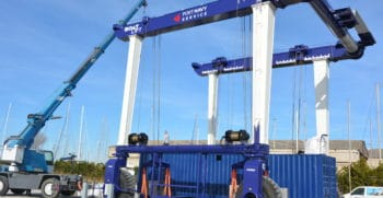 Travelift 120 tonnes - Port à sec Port Navy Service